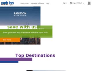 lyon.rezidorparkinn.com screenshot