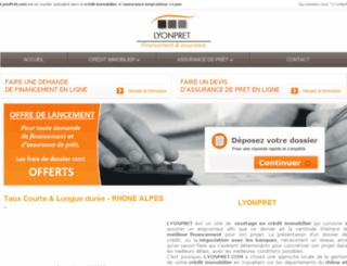 lyonpret.com screenshot