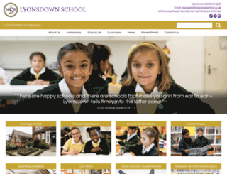 lyonsdownschool.co.uk screenshot