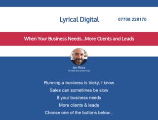 lyrical-digital.co.uk screenshot
