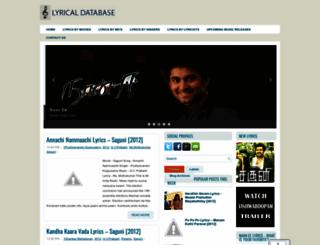 lyricaldatabase.blogspot.in screenshot