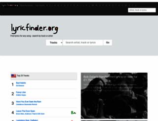 lyricfinder.org screenshot