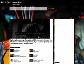 lyricinterpretations.com screenshot