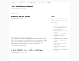 lyrics-ringtone-download.com screenshot