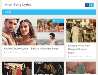 lyrics.bollywoodchicks.com screenshot