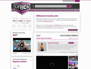 lyrics.net screenshot