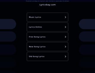 lyricsbay.com screenshot