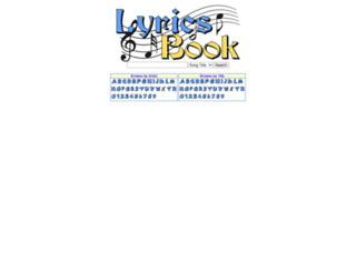 lyricsbook.net screenshot