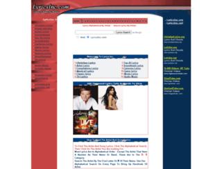 lyricsinc.com screenshot