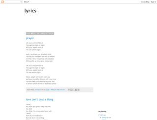 lyricslovesong.blogspot.com screenshot