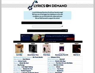 lyricsondemand.com screenshot