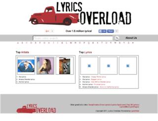 lyricsoverload.com screenshot
