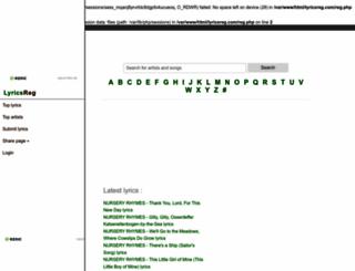 lyricsreg.com screenshot