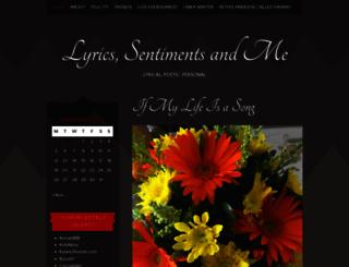 lyricssentimentsandme.wordpress.com screenshot