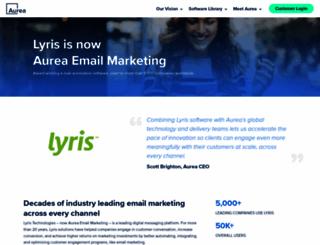 lyris.com screenshot