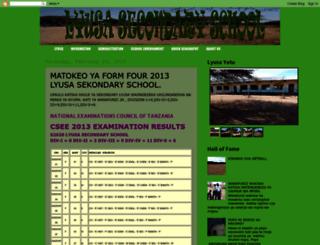 lyusasecondaryschool.blogspot.com screenshot