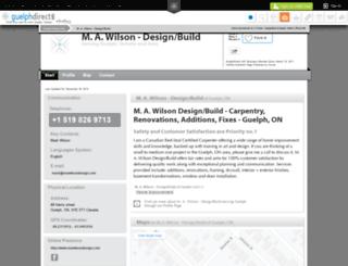 m-a-wilson-designbuild-guelph.guelphdirect.info screenshot