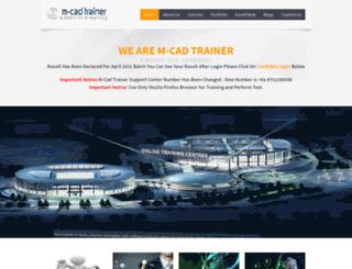 m-cadtrainer.co.in screenshot