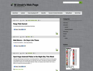 m-umair.com screenshot