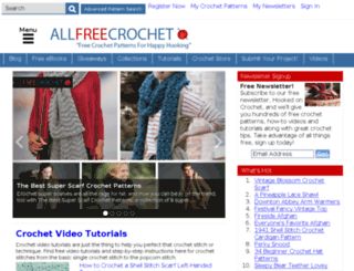 m.allfreecrochet.com screenshot