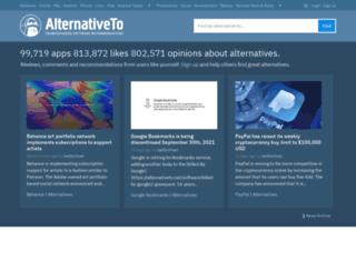 m.alternativeto.net screenshot