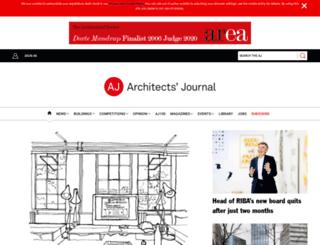 m.architectsjournal.co.uk screenshot