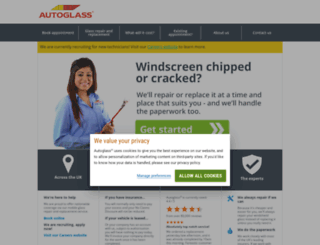 m.autoglass.co.uk screenshot