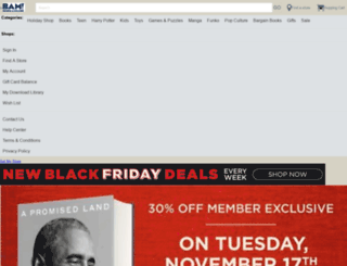 m.booksamillion.com screenshot