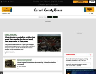 m.carrollcountytimes.com screenshot