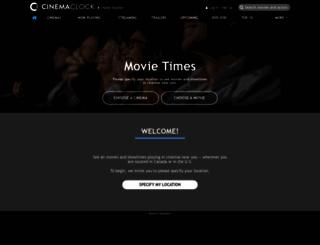 m.cinemaclock.com screenshot