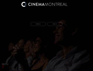 m.cinemamontreal.com screenshot