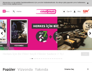 m.cinemaximum.com.tr screenshot