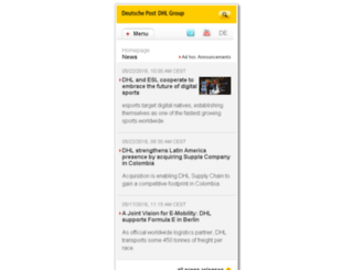 m.dp-dhl.com screenshot