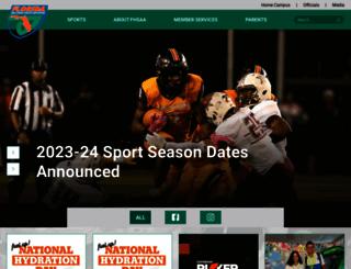 m.fhsaa.org screenshot
