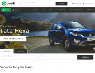 m.gaadi.com screenshot