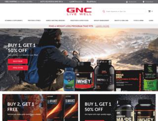 m.gnc.com screenshot