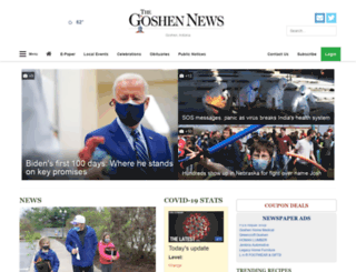 m.goshennews.com screenshot