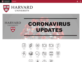 m.harvard.edu screenshot
