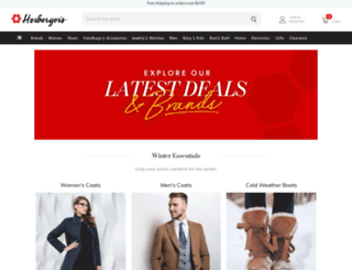 m.herbergers.com screenshot