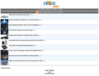 m.hexus.net screenshot