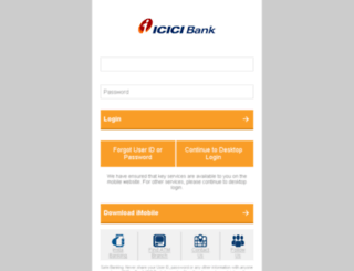 m.icicibank.com screenshot