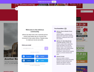 m.isthmus.com screenshot