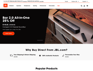 m.jbl.com screenshot