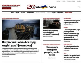 m.krytykapolityczna.pl screenshot