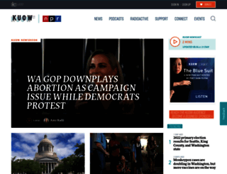 m.kuow.org screenshot
