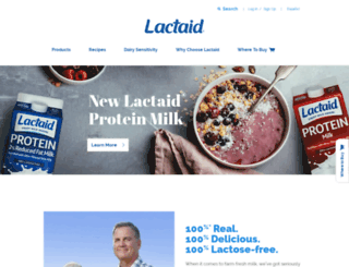 m.lactaid.com screenshot