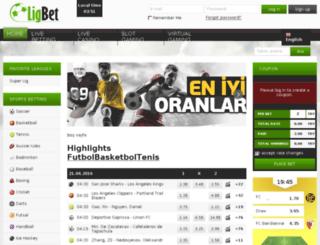 m.ligbet.com screenshot