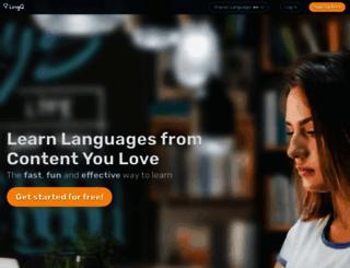 m.lingq.com screenshot