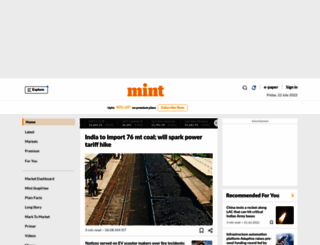 m.livemint.com screenshot