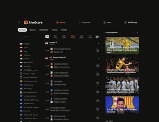 m.livescore.com screenshot